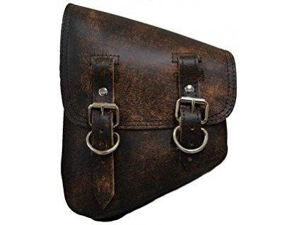 Retro hnědý batoh LaRosa pro modely softail