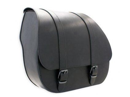 XXL jednostranný kožený batoh