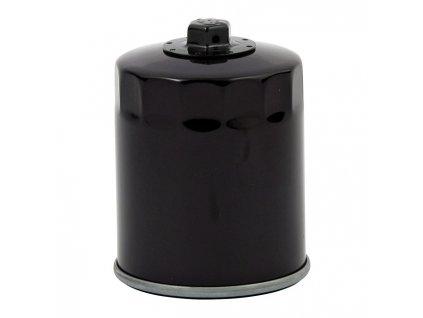 Motorkářský motorový černý olejový filtr magnetický pro Harley Davidson EVO a SPORTSTER