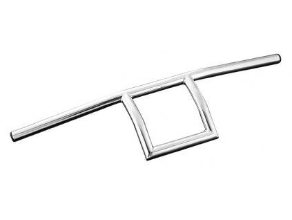 "Řidítka Square Chrome Diameter 22mm (7/8""), Width 710 Pullback 90 Height 330 mm"