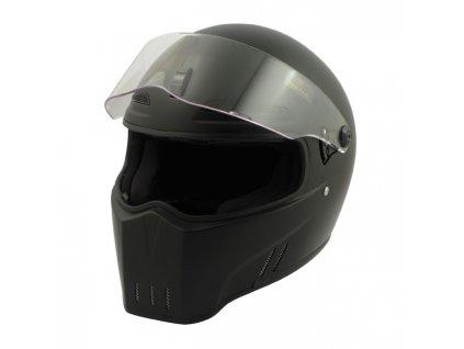 Motorkářská lehká integrální helma ALIEN II - MATT BLACK ECE v černé matné barvě