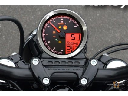 KOSO HD-01 Speedo/Tacho, Chrome