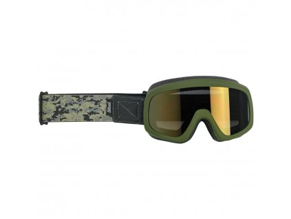 Biltwell, Grunt Overland Goggle 2.0, Satin Olive Green Camo