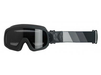 Biltwell, Tri-Stripe Overland Goggle 2.0, Satin Black, Silver-Grey-Black