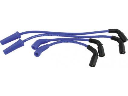 Zapalovací kabely S/S sada Softail Milwaukee Eight modrá