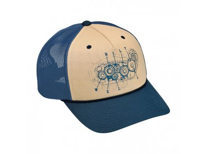 BITTWELL 4 CAM SNAPBACK CAP BLUE/BEIGE