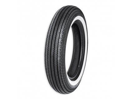 Super klasická pneu 5.00-16 69S E-270SW s bílou dvojitou linkou