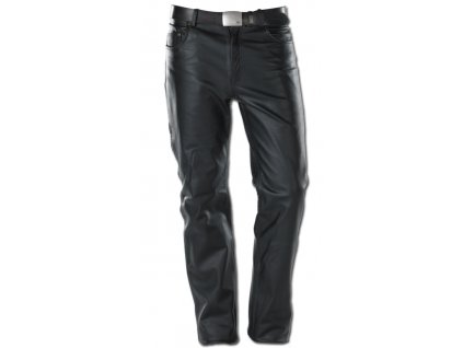 Kožené kalhoty Five Pocket Black