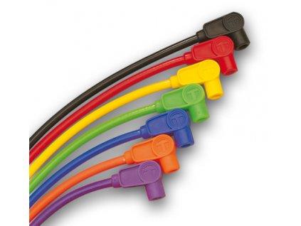 Set zapalovací kabely ke svíčkám 8mm S / S TAYLOR červená