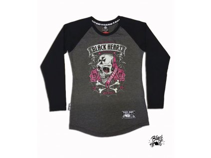 dámský raglan black heart crusty demons
