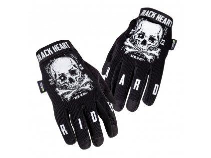 Moto rukavice W-TEC Web Skull (Velikost L, Barva Černá)