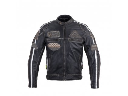 Pánská kožená moto bunda W TEC Sheawen Vintage