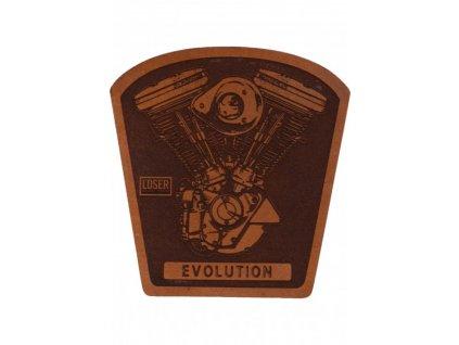 Loser Machine Verschiedenes Evo Leather Patch brown Vorderansicht 600x600