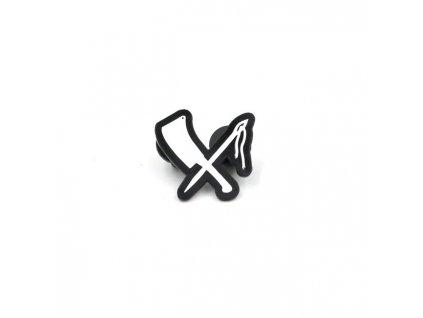 Kovový odznáček Rusty Butcher Logo Pin, velikost 2,5cm. TW Ryder