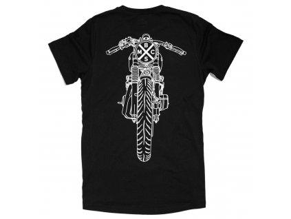 Bike Shed London t shirt drop bars černé trikko s krátkým rukávem www.twryder.cz tw ryder