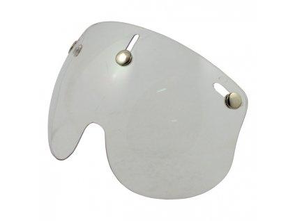 Čirý krátký štít pro Bandit Jet přilby, vyrobeno z Polykarbonátu. TW Ryder