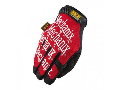 Motorkářské odolné rukavice určené pro těžkou práci MECHANIX THE ORIGINAL BLACK/RED v červené barvě. TW Ryder
