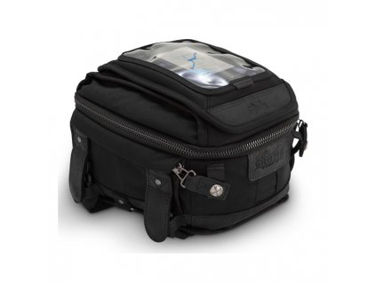 Burly Voyager tank bag, motorkářská brašna na nádrž z voskovaného UV ošetřeného bavlněného plátna. TW Ryder