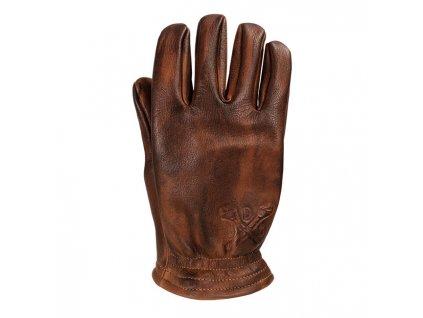 Motorkářské rukavice z hovězí kůže John Doe FREEWHELEER GLOVES v hnědé barvě