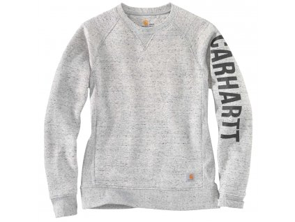 Dámská mikina Carhartt Relaxed Fit Mdweight Crewneck Block Logo Sleeve Graphic Sweatshirt (Velikost L)