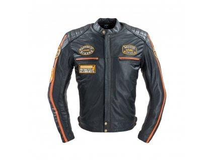Pánská kožená moto bunda W TEC Sheawen Classic 18