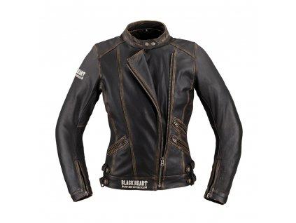 Dámská kožená moto bunda W TEC Black Heart Lizza 12