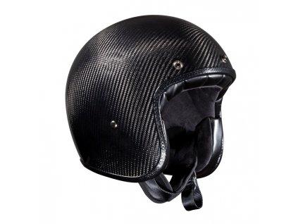 Motorkářská karbonová lehká otevřená helma BANDIT JET CARBON ECE APROVED v černé barvě