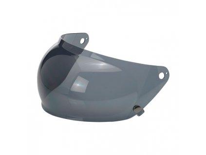 Motorkářský štít pro helmy Gringo S s proti mlžící funkcí v kouřovém zabarvení