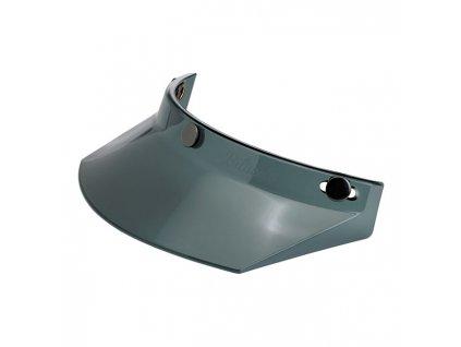 Motorkářský nacvakávací kšilt pasující na integrální i otevřené helmy Biltwell PEAK SMOKE TRANSLUCENT v šedé barvě