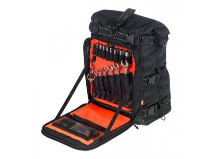 Motorkářský nepromokavý batoh pro jezdce BILTWELL EXFILL 80, BLACK v černé barvě