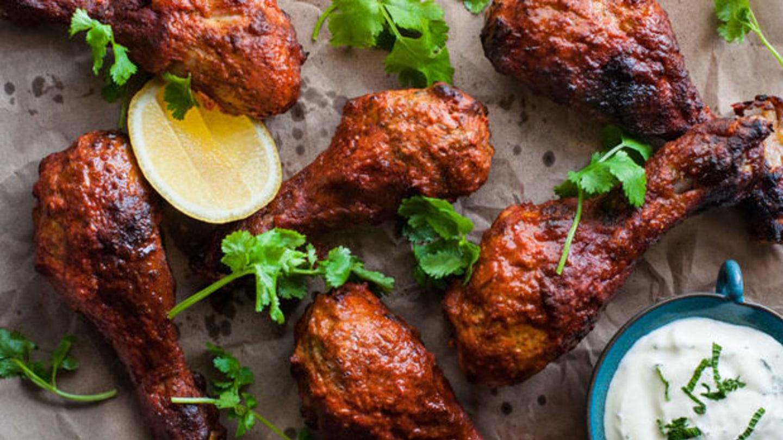 Kuřecí tandoori - Pikantní indické kuřecí připravené na grilu