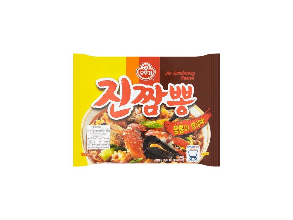 Ottogi Jin Jjambbong instantní nudlová polévka pálivá Seafood 130g