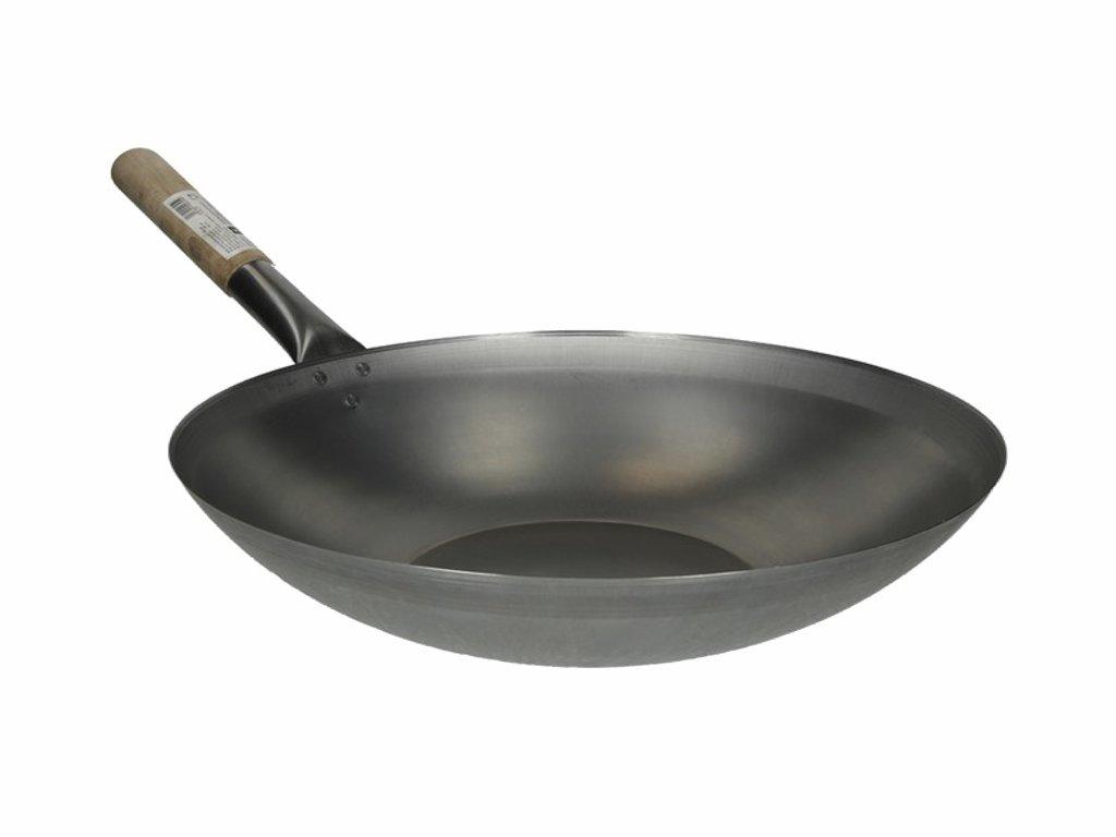 klasicky plechovy wok s plochym dnem 33cm