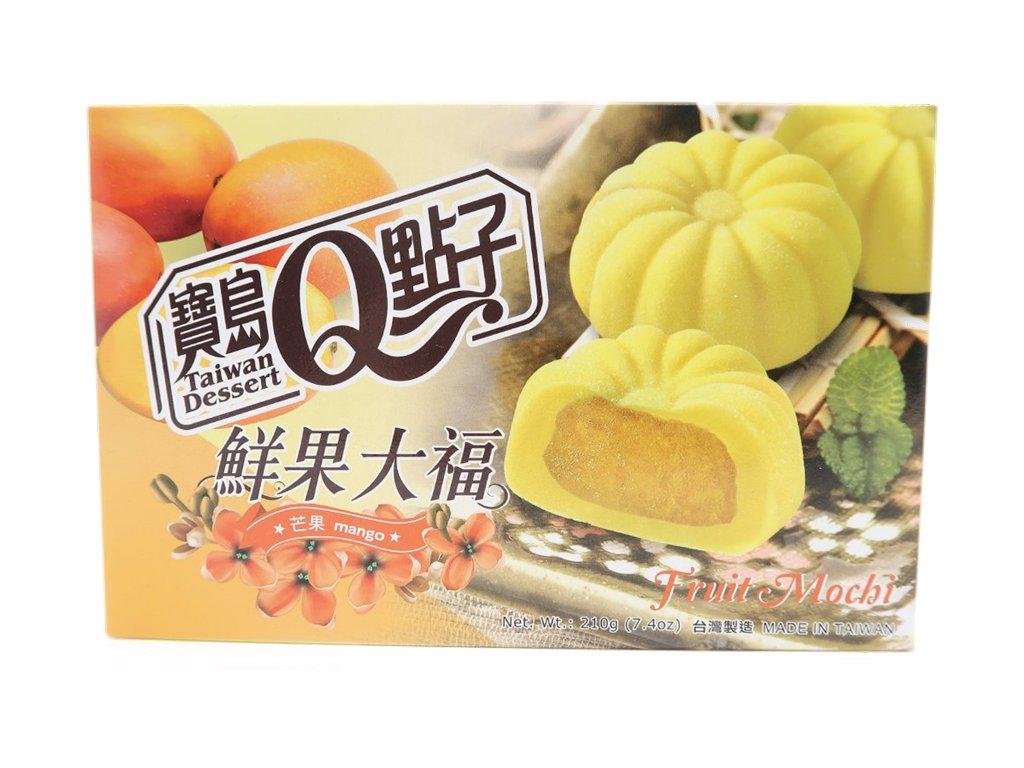 Qmochi ryzove kolacky mango 210g