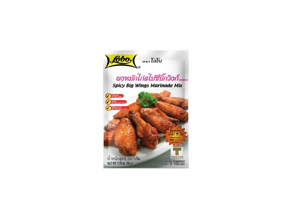 lobo korenici mix na pikantni kureci kridelka hot wings 50g