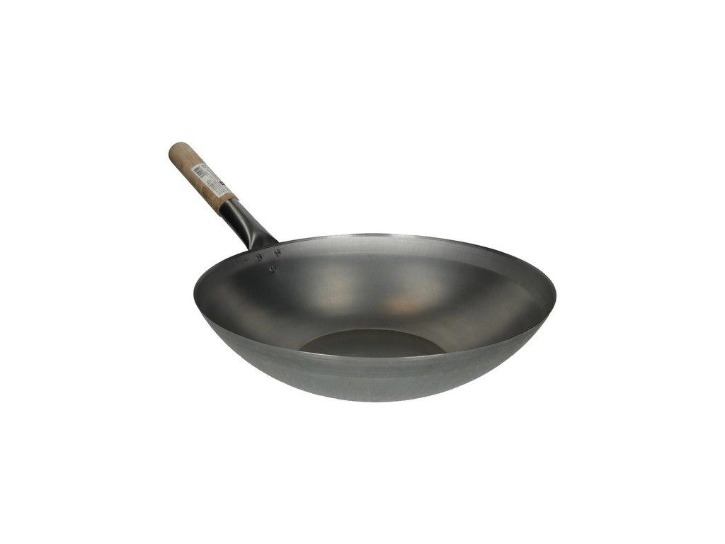 klasicky plechovy wok s plochym dnem 38cm