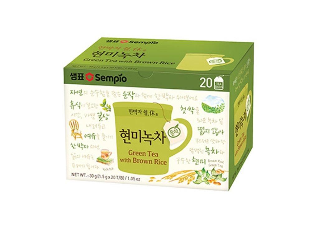 sempio korejsky zeleny caj s hnedou ryzi 30g 20x1 5g