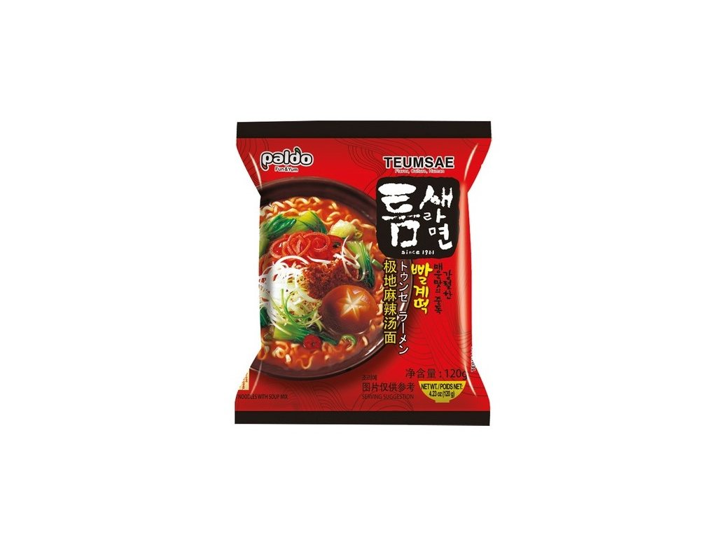 paldo korejske nudle hot spicy 120g