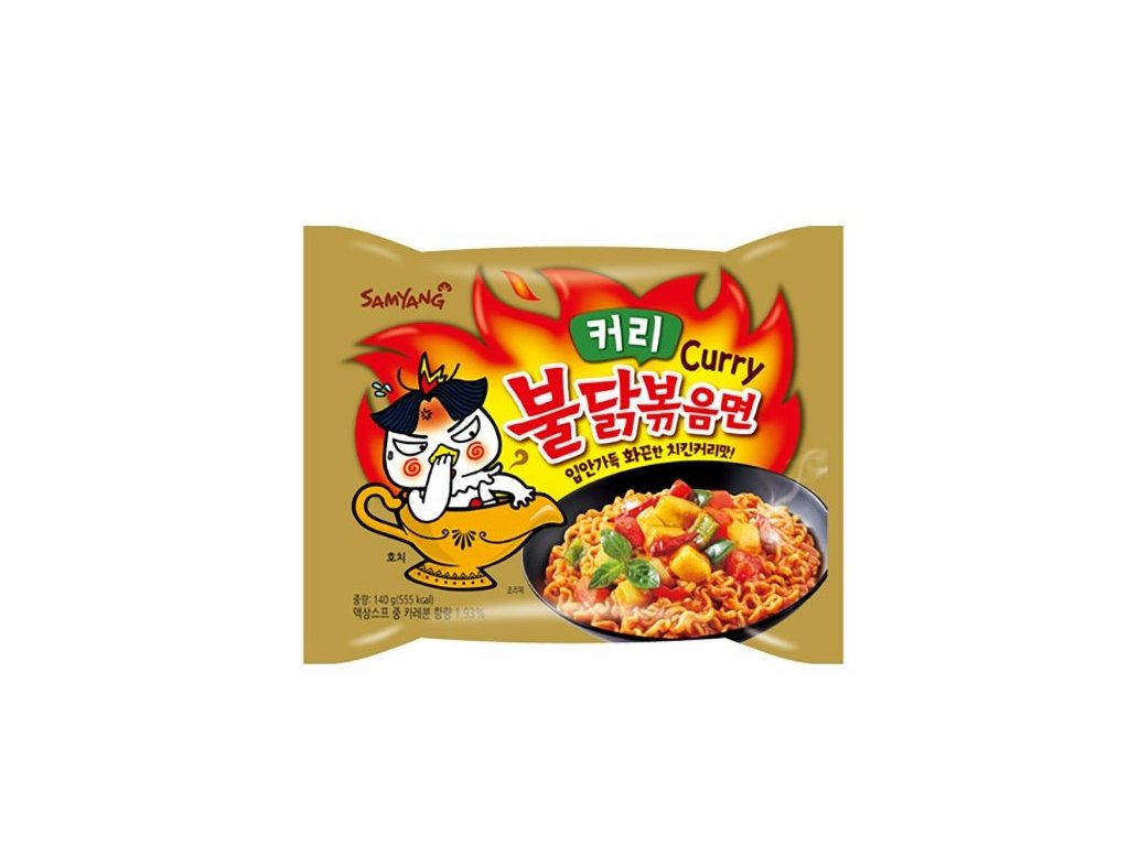 samyang instantni smazene nudle hot chicken curry ramen kureci kari 140g