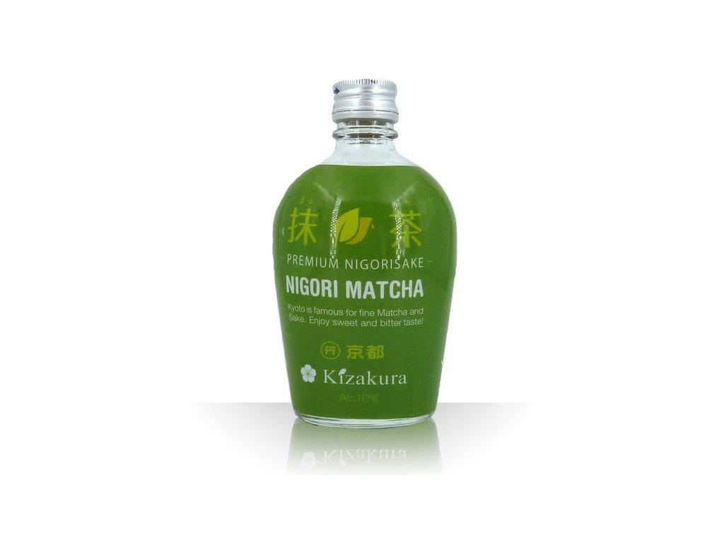 kizakura japan sake matcha nigori 10 vol 300ml