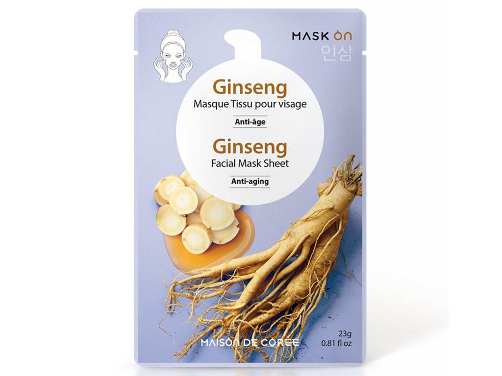 Pleťová maska Ginseng MAISON DE CORÉE 23g