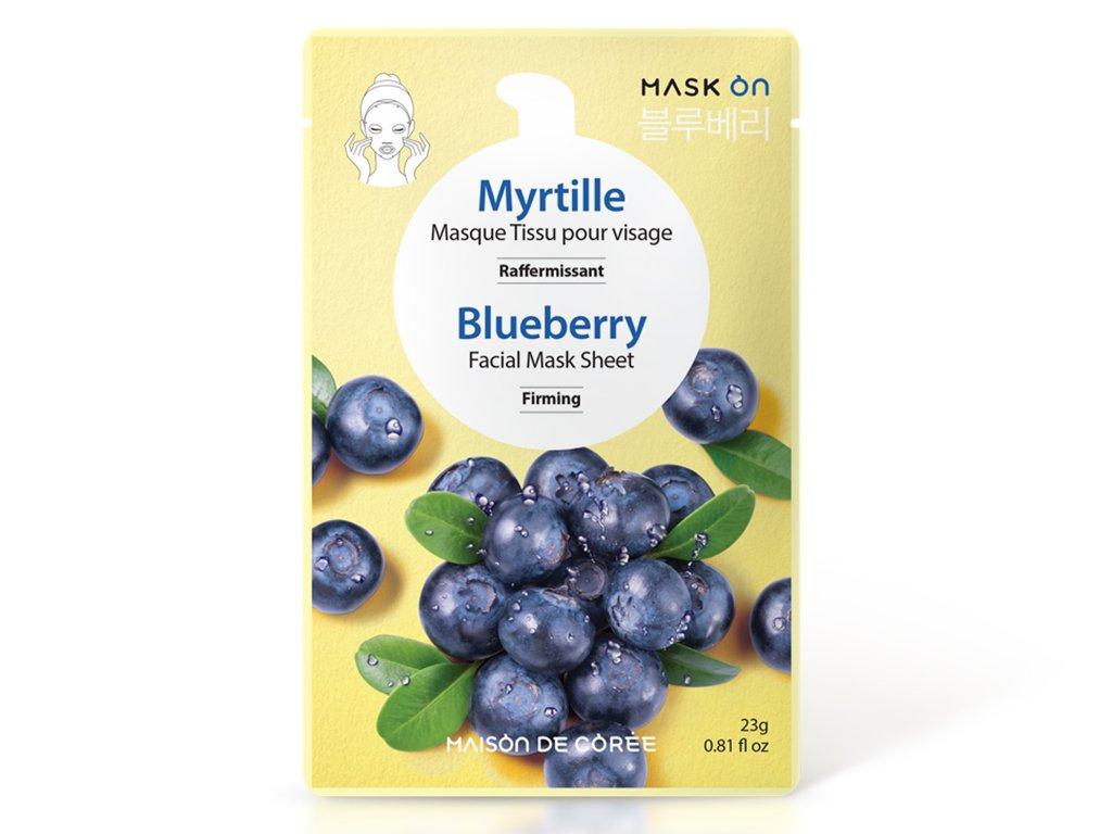 Pleťová maska Blueberry MAISON DE CORÉE 23g