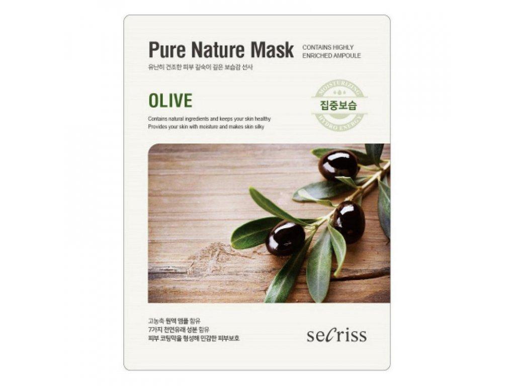 Pleťová maska Olive Secriss Pure Nature Mask 28g