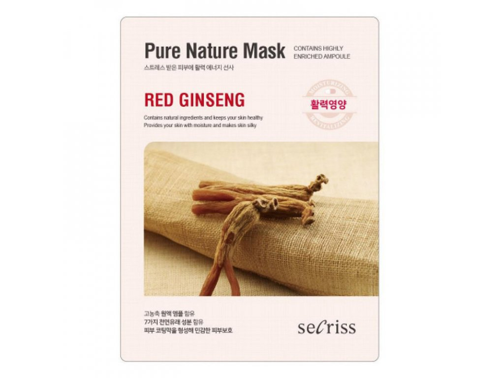 Pleťová maska Red Ginseng Secriss Pure Nature Mask 28g