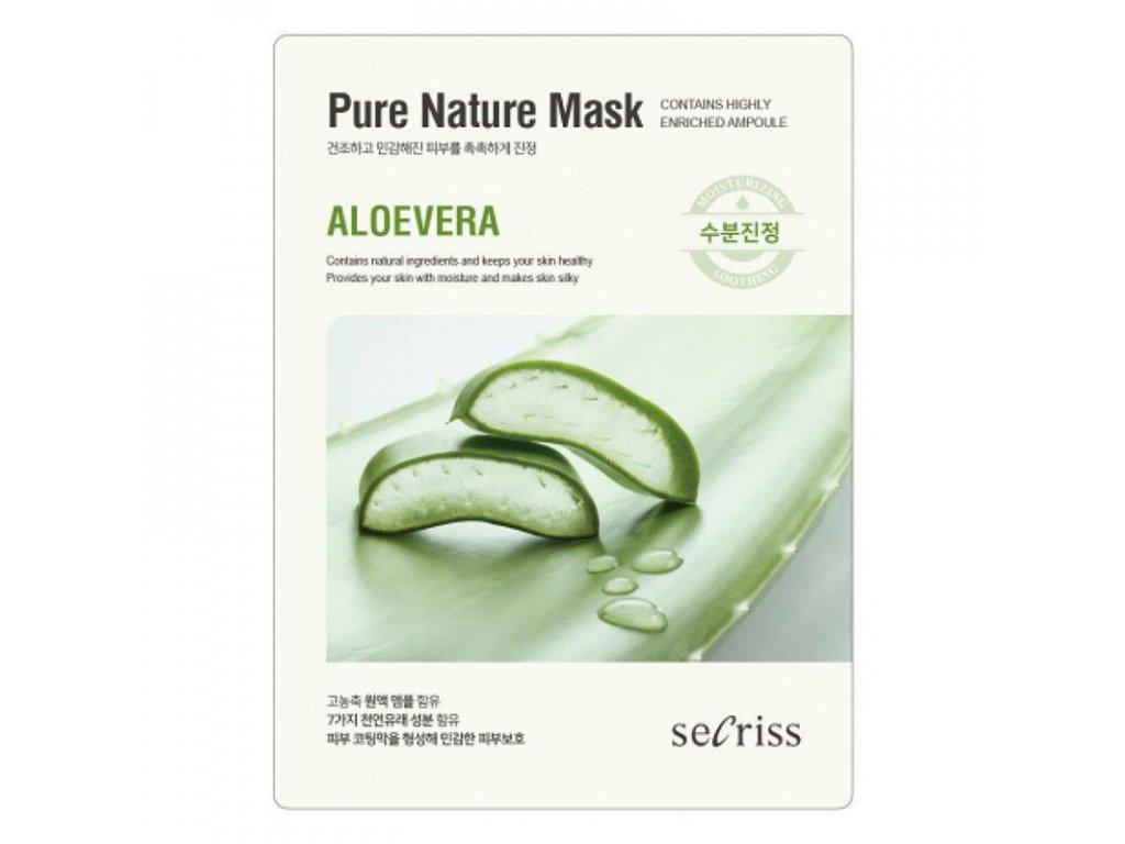 Pleťová maska Aloe Vera Secriss Pure Nature Mask 28g