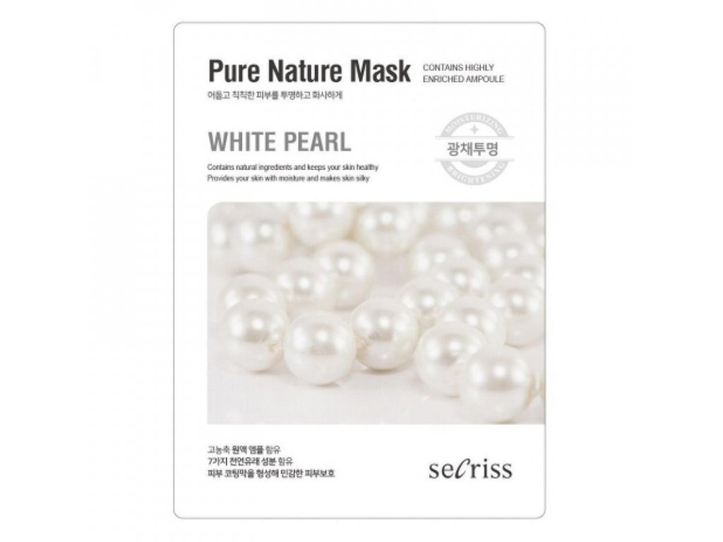 Pleťová maska White Pearl Secriss Pure Nature Mask 28g