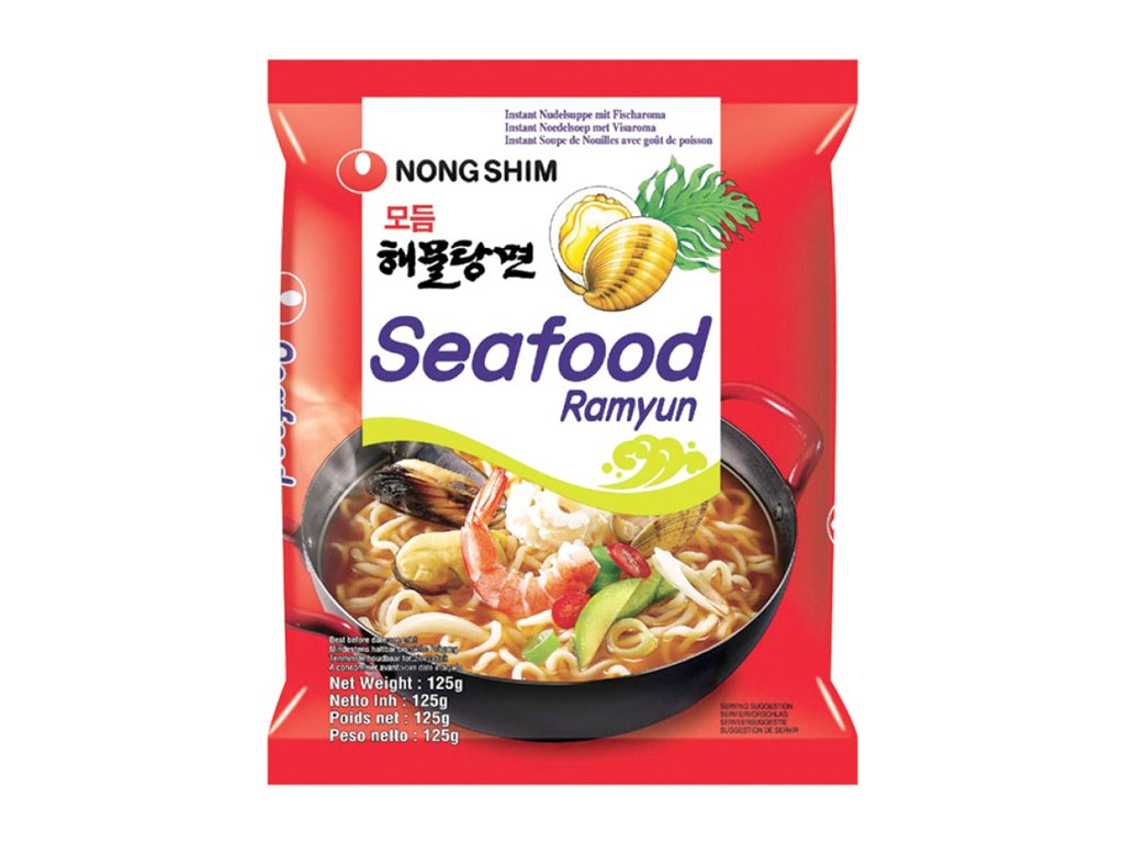 nong shim nudle seafood 125g