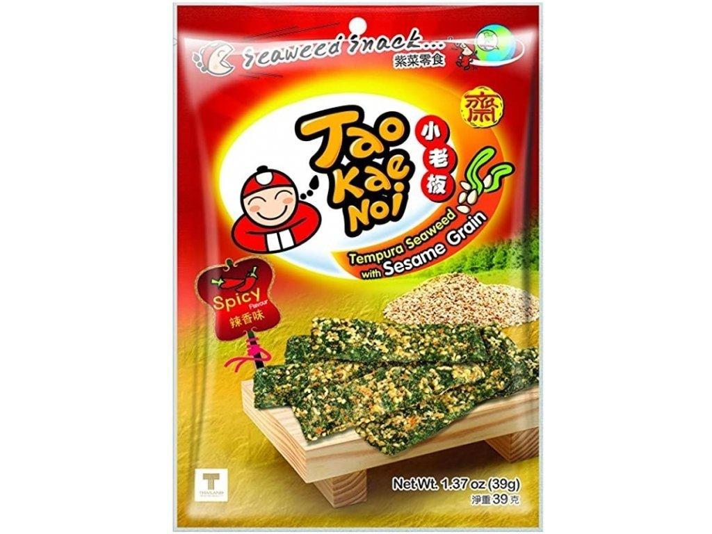 tao kae noi tempura morska rasa snack se sezamem palivy 39g