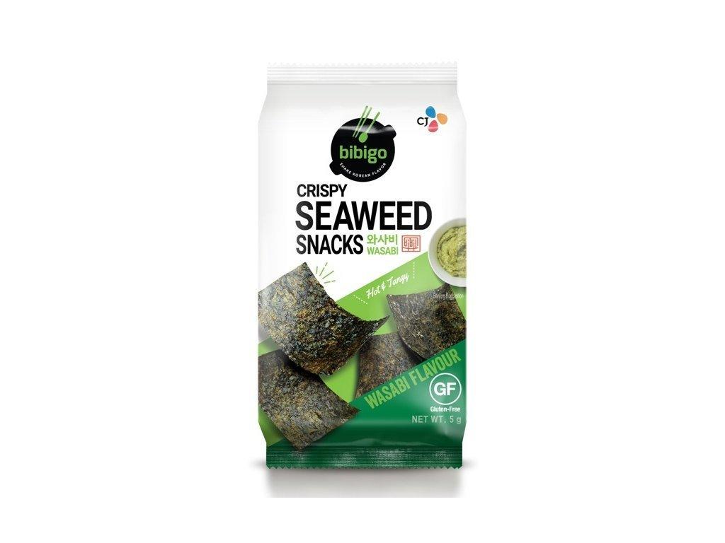 bibigo nori prazena morska rasa snack wasabi 5g