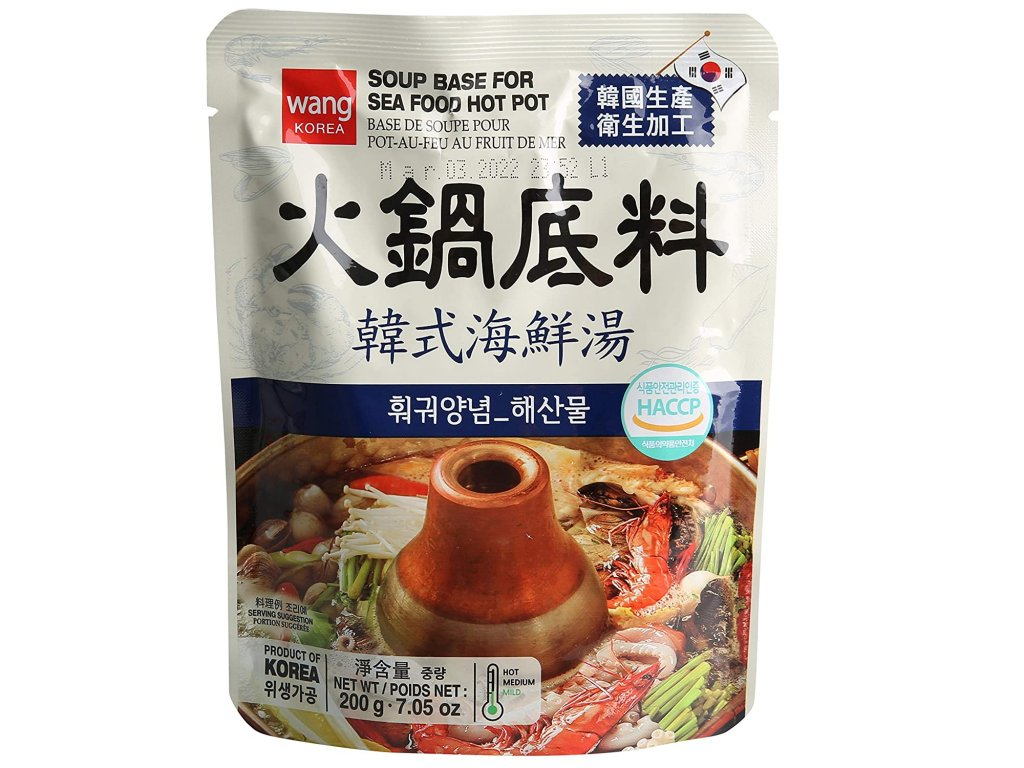 wang korejsky korenici zaklad na sea food hot pot 200g